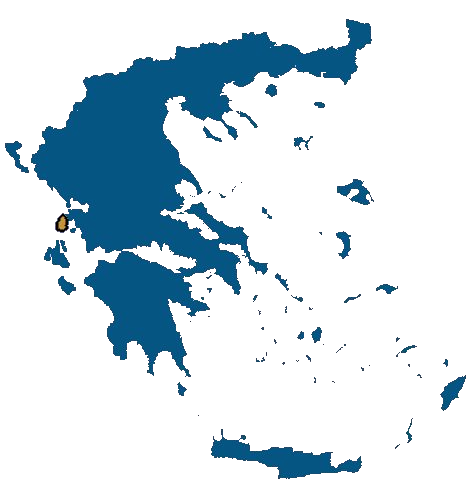 Lefkada Greece map